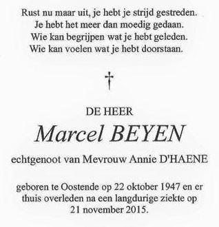 overlijden marcel beyen